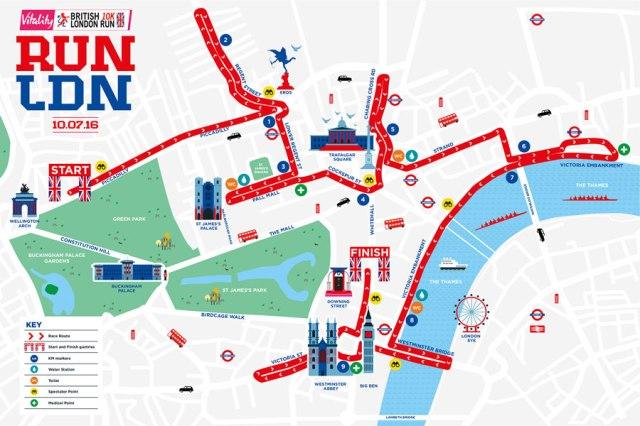 London Run map